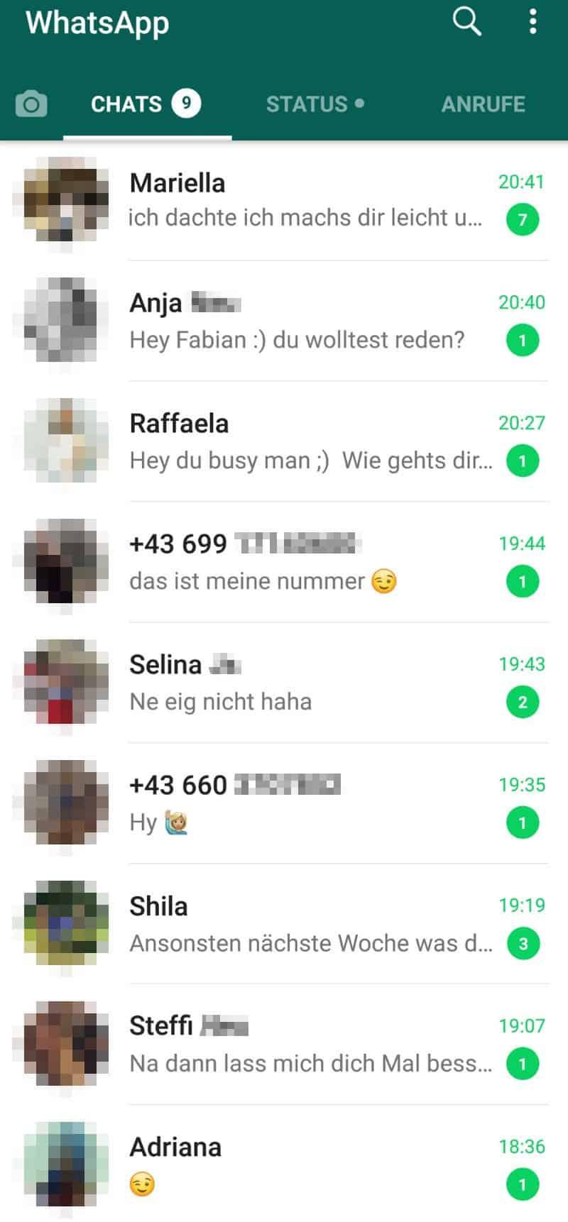Von frauen nummern whatsapp WhatsApp Date